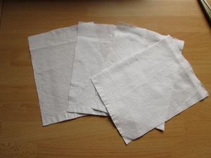 Fertig ausgeschnitten Stoffstücke passend für den Bilderrahmen